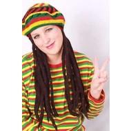 Karneval- & Fest Zubehör: Bob Marley Perücke