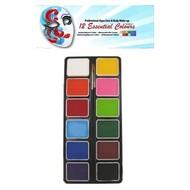 Schmink-palette aqua 12 Farben populär