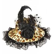 Party Hüte mini Hut in Leoparden-muster