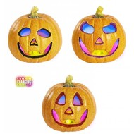 Halloween Accessoires: glitter Kurbisch 17cm