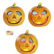 Halloween Accessoires: glitter Kurbisch 20cm