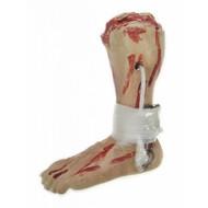 Horror-Zubehör: Amputiertes Bein mit Haken
