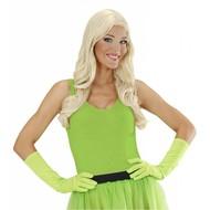 Karnevals-zubehör Lange Handschuhe neon-grün