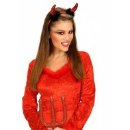 Halloweenaccessoires: Hörnchen Glitzer mit Marabu