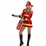 Faschingskostüm Feuerwehr-dame Metallic