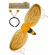 Karnevalszubehör: Biene-flügel und Fühler