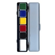 Schmink-palette aqua 6 reguläre Farben