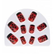 Faschings-zubehör Set aus 10 Marienkäfer Nägel