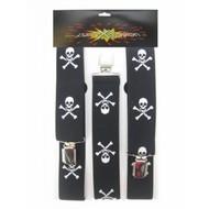 Pirate-Hosenträger mit Schädeln