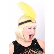 Karnevalszubehör: Charleston Kopfband mit Federn