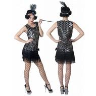 Party-kostüme: Charlestonkleid schwarz/silber
