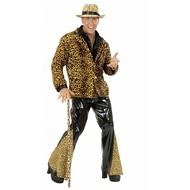 Karnevals-Kleidung: Hose mit Leoparden-Motiv (vinyl)