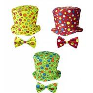 Faschings-accessoires Clownshut mit Bogen für Kinder