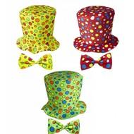 Faschings-accessoires Clownshut mit Bogen für Erwachsenen