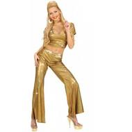 Faschingsklamotten: Glitzer Disco-pantalons für Damen