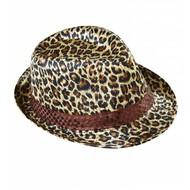 Faschings-hüte Kojakhut Leopardprint