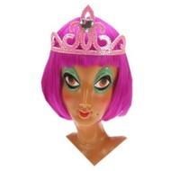 Party-accessoires: Tiara-Kamen Rosa/silber