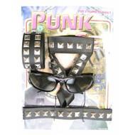 Faschings-zubehör: Punk-set 4 teilig
