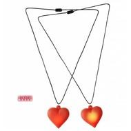 Faschings-zubehör Halskette mit blinkendem Herzilein
