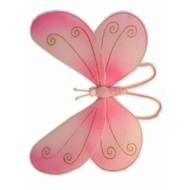 Karnevalszubehör: Rosa Schmetterling-Flügel