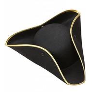 Party Hüte Dreispitz in schwarz