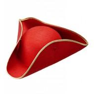 Party Hüte Dreispitz in rot