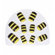Faschings-zubehör Set aus 10 Bienen Nägel