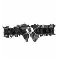 Karnevals-zubehör schwarze Strumpfband mit Diamant