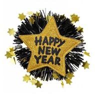 Sylvester-accessoires goldene Brosche Happy New Year
