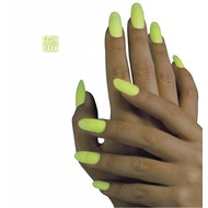 Faschingszubehör: Nägel gelb aufleuchtend im Dunkeln