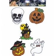 Halloweenaccessoires: Fenster-aufkleber 13 cm