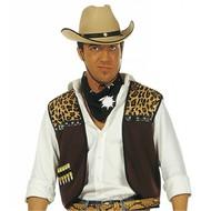 Faschingkostüm: Cowboy-weste mit Bandana