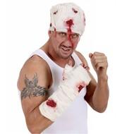Karnevalsaccessoires: Blutigen Verband um den Arm