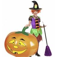 Halloweenaccessoires: Aufblaßbarer Kürbis 110 cm