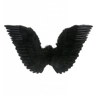 Halloweenaccessoires: Schwarze Flügel