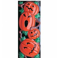 Halloween Accessoires: Kurbisch Dekoration 3dvertikal 20x50cm