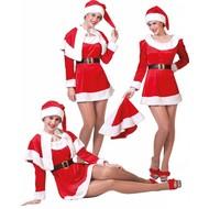 Weihnachtskostüme: Weihnachtsmann oder Frau (komplett)