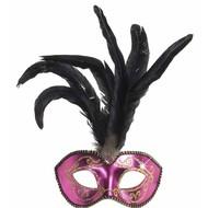 Chique Augenmasken mit Feder