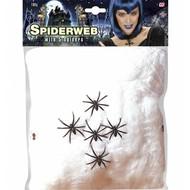 Halloween Accessoires: spinnennetz 100 Gramm mit 5 spinnen