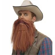 Bart mit Schnurrbart und Lippen