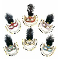 Maske mit Perlen mysterious Lady