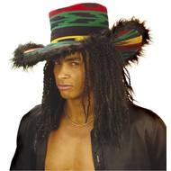 Rasta-Hut mit plüschem Rand
