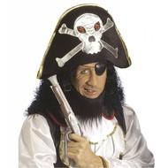 Kopfbedeckung Piratenhut mit Totenkopf