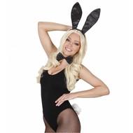 Faschings-zubehör Dress-up set sexy Bunny schwarz