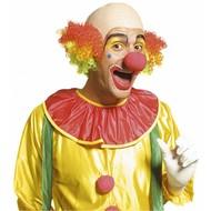 Clowns-glatze mit farbigem Haar