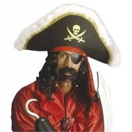 Kopfbedeckung Luxus Piratenhut
