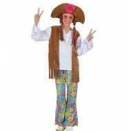 Kinder Karnevalskostüm Woodstock Hippie-girl