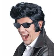 Elvis-Perücke schwarz