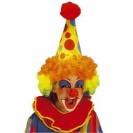 Kopfbedeckung Clownsmütze mit Haar