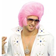 Perücke Elvis The King in rosa